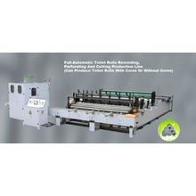 Full-Automatic Toilet Paper Rewinding, Embossing, Perforating and Cutting Production Line