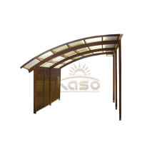 Green High Load Bearing Cantilever Aluminium Carport
