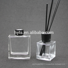 black aluminium cap and rattan for square diffuser
