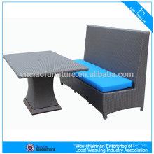 Tabela de vime Rattan Bridge e conjunto de cadeiras