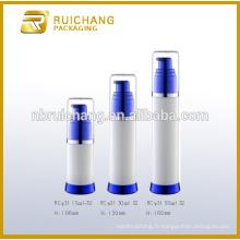 15 ml / 30 ml / 50 ml de bouteille sans air, bouteille ronde en plastique sans air, bouteille sans cosmétiques