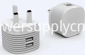 5V2.4A dual USB travel charger