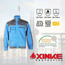 EN11611 cotton fire retardant jacket with FR tapes  EN11611 cotton fire retardant jacket with FR tapes