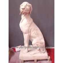 Escultura de piedra del animal del perro de mármol para la estatua del jardín (SY-B101)