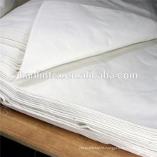 wholesale plain white cotton fabric/family matching clothes/cotton combed fabric