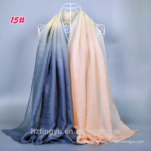 Wholesale 2017 Latest Fashion Brand Scarves Gradient Shawl Hijab Muslim For Women