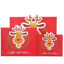 Red Color Christmas Art Paper Bag