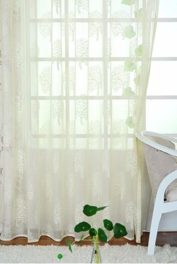 Household Money Tree Plant Pattern Curtain 2