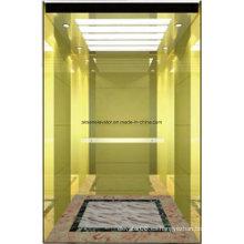 Elevador de pasajeros Lift Gold Mirror Etching Hl-X-054