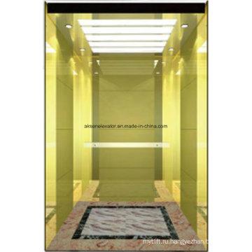 Пассажирский лифт Lift Gold Mirror Травление Hl-X-054