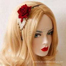 Gets.com Preço Baratos Lace Hair Band Rose Red Girl Headband