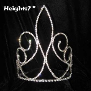 Todas las coronas de concurso de cristal único, simple y claro