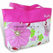 Fashion Style Reusable Casual Cotton Bag with Zip