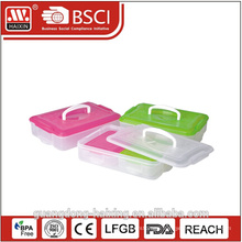 double wall stackable two layers thermal lunch box