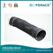 Calcetín de filtro de polvo de fibra de vidrio de tejido de baja resistencia a la hidrólisis