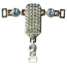 Shinning Sandal Chain Rhinestone Trimming, Sparking Rhinestone Chain Sandals pour Lady Party