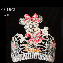 "6"" Custom Cartoon Mouse Princess Pageant Crown"