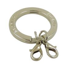 Benutzerdefinierte Silber Metall Flat Split Ring