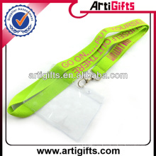 Wholesale polyester lanyard with plastic card holder