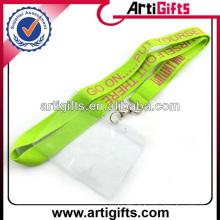Wholesale longe en polyester avec titulaire de la carte en plastique