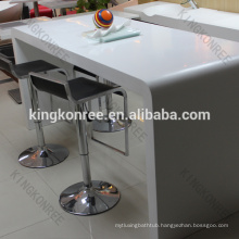 solid surface high top bar tables, long narrow bar table