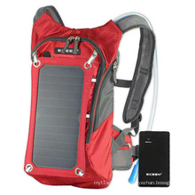 Solar Backpack with Polymer Lithium Battery Charging 5000mAh, 10000mAh Power Bank Solar Mobile Phone Charger Bag
