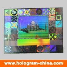 Impression d'étiquettes d'hologramme de sécurité 3D argentée