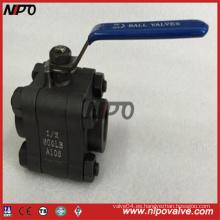 Válvula de bola de acero forjado Bw / Sw / NPT