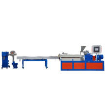 Water cooling strands pelletizing extrusion line