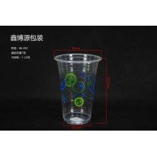 Copos plásticos impressos do logotipo para a bebida fria