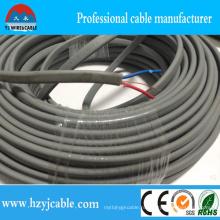 Медный изоляционный кабель с изоляцией из ПВХ и оболочкой из плоского кабеля BVVB Провод заземления