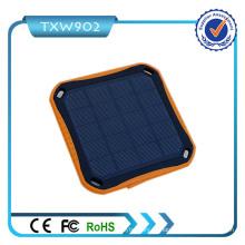 2016 Banco de Energia Solar Banco de energia 10000mAh impermeável Power Bank Carregador solar portátil para telefone celular