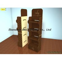 Soporte de exhibición de piso de la cartulina de 5 capas para los mercados estupendos con SGS (B & C-A068)