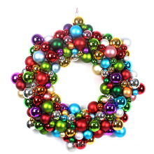 "New Design 24"" Star Shape Xmas Ball Wreath"