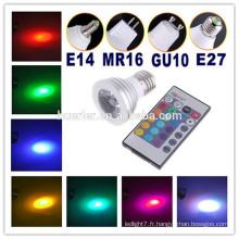 3W RGB conduit spot lumière led lumière jardin spot lumières gu10 240v conduit spot light