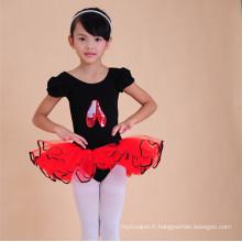 2015 en gros babi filles scène usure noir enfant danse justaucorps tutu robe
