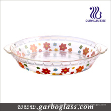 Heat-Resistant Glass Baking Dish with Decal (GB13G21255 TH 002)