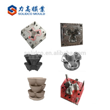 pot planter plastic mould large size design service highly production garden pot plastic injection mould