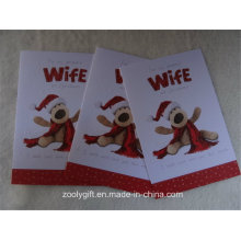 High Quality Snow Embossed Glitter Christmas Greeting Gift Cards and Envelope