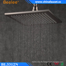 Ss304 gebürstet Dusche 12 Zoll gefiltert Regenfall Wasserfall Duschkopf