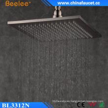Ss304 ducha cepillada 12 pulgadas lluvia filtrada cascada cabezal de ducha
