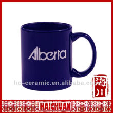 Copo personalizado da caneca do logotipo cerâmico, copo de café cerâmico da caneca de café