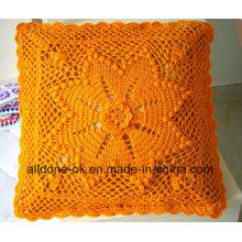 Novo design mão malha crochet almofada capa travesseiro caso