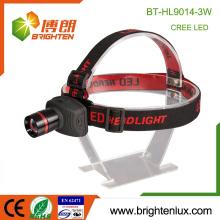Factory Supply Multi-functional Coal Mining 3*AAA Aluminum ABS Material 3watt High Power Cree Zoom Headlamp Headlight led