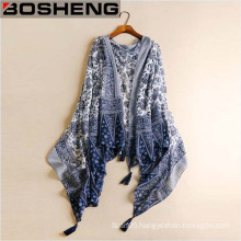 Women National Wind Restoring Ancient Ways Chiffon Shawl Scarf