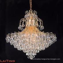 Crystal pendant light traditional large foyer chandelier image