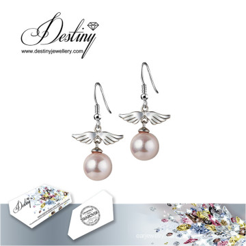 Destiny Jewellery Crystals From Swarovski Earrings Bird Pearl Earrings