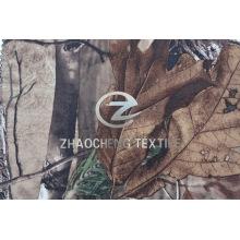 Tricot Strickschlaufe Samtgewebe mit Waldtarnung (ZCBP254)