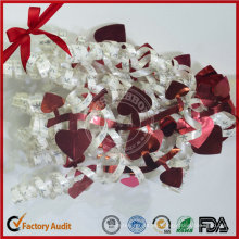 Forma del corazón Mezclar Color Regalo Curling String Bow