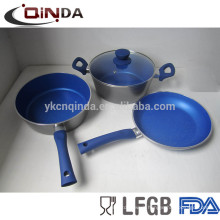 cookware set 4 pcs aluminum marble coating